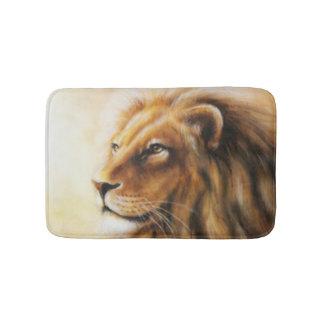 Brown Lion Face Bathroom Mat