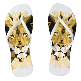 Brown Lion Flip Flops