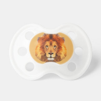 Brown Lion Head On Any Color Background Pacifier