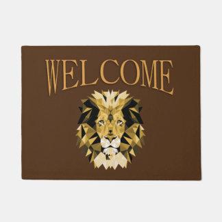 Brown Lion Welcome Doormat