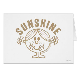 Brown Little Miss Sunshine Greeting Card