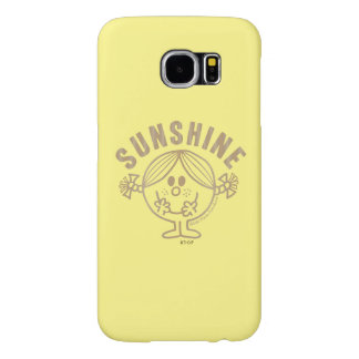 Brown Little Miss Sunshine Samsung Galaxy S6 Cases