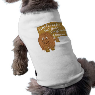 Brown live for today doggie t shirt