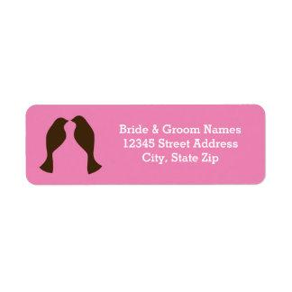 Brown Love Birds - Address Labels