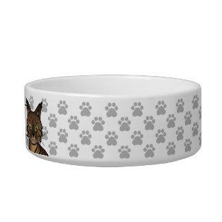 Brown Mackerel Tabby Maine Coon Cat Bowl