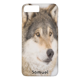 Brown male wolf smiling iPhone 8 plus/7 plus case