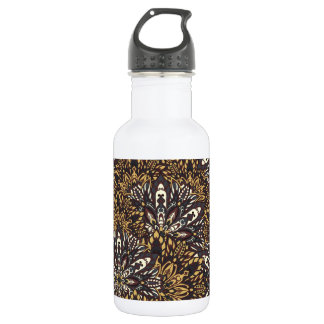 Brown mandala pattern 532 ml water bottle