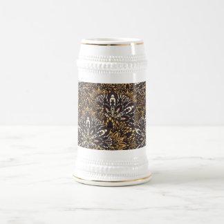Brown mandala pattern. beer stein