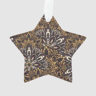 Brown mandala pattern. ornament