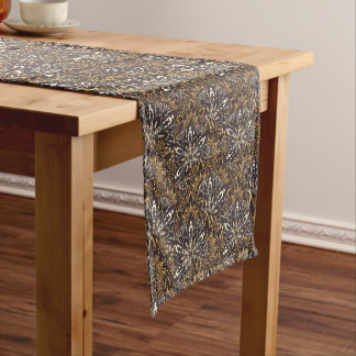 Brown mandala pattern. short table runner