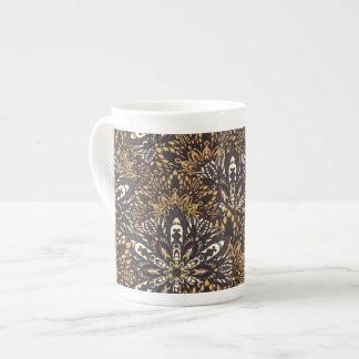 Brown mandala pattern tea cup