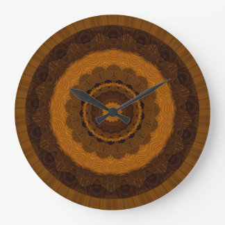 Brown Mandela Wall Clock by Julie Everhart