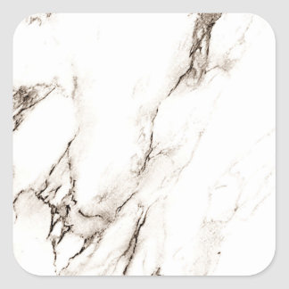Brown Marble Look Square Sticker