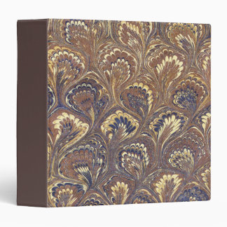 Brown Marbled Paper Vinyl Binder