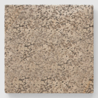 Brown Marbled Spotted Square Stone Coaster