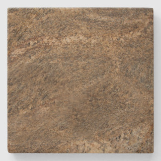 Brown Marbled Square Stone Coaster