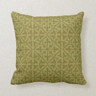 Brown Medieval Pattern Pillow