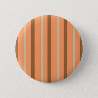Brown Melon Stripe 2 Inch Round Button