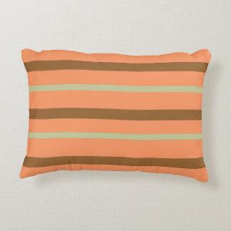 Brown Melon Stripe Accent Pillow