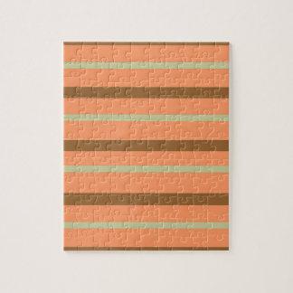 Brown Melon Stripe Jigsaw Puzzle