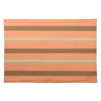 Brown Melon Stripe Placemat