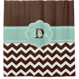 Brown Mint Chevron Personalized