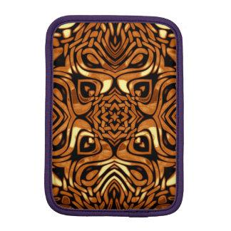 Brown Molten Metal Kaleidoscope Patterns iPad Mini Sleeves