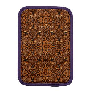 Brown Molten Metal Kaleidoscope Patterns Sleeve For iPad Mini