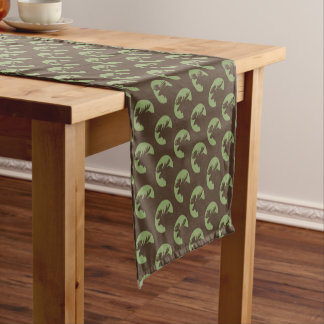 Brown Moose Circle Pattern Short Table Runner