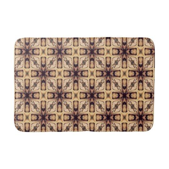 Brown Mosaic Pattern Bathroom Mat