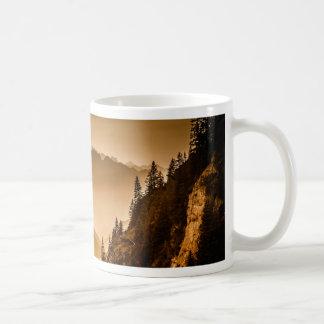 Brown mountains coffee mug