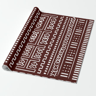 Brown Mud Cloth Pattern Wrapping Paper
