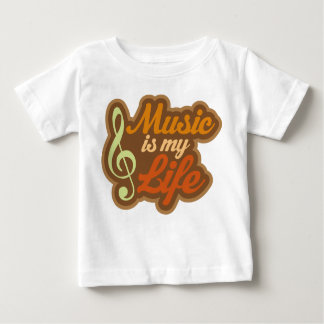 Brown Music Is My Life Baby T-Shirt