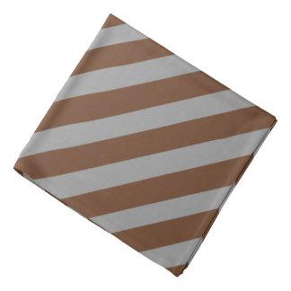 Brown 'n Gray Pirate Stripes Head Kerchief