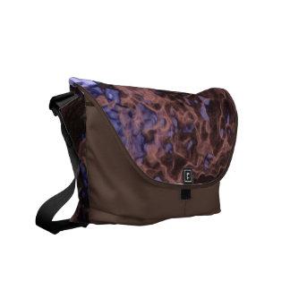 Brown N Lilac Geode Rickshaw Messenger bag