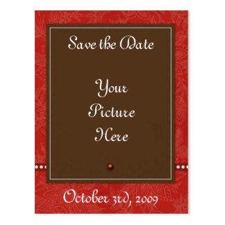 Brown n Red Postcard