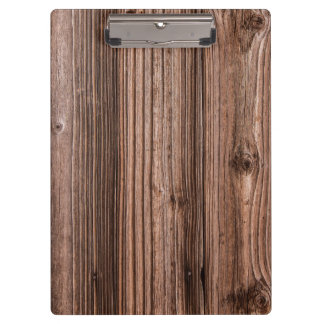 Brown natural wood texture clipboard