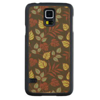 Brown Nature Ornament Carved® Maple Galaxy S5 Slim Case