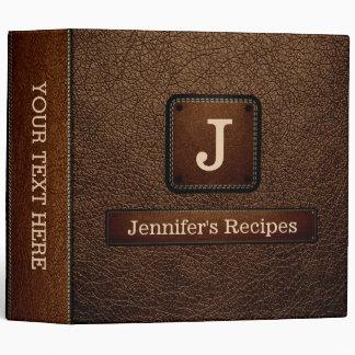 Brown-nose Elegant Recipe Leather Look Vinyl Binders