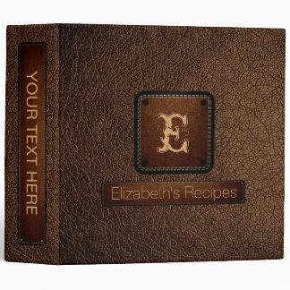 Brown-nose Leather Elegant Monogram Vinyl Binders
