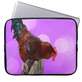 Brown Nosy Rooster, Laptop Sleeve