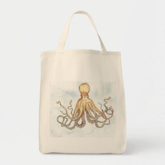 Brown Octopus Grocery Tote