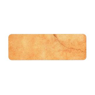 Brown old wall with cracks blank custom address return address label