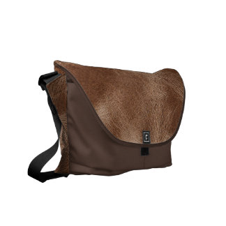 Brown old weathered leather messenger bag
