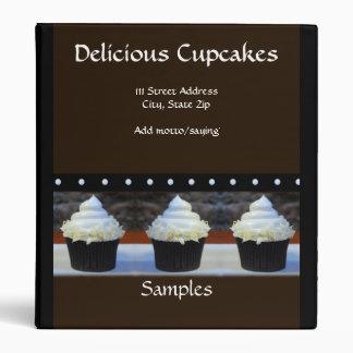 Brown on Black Cupcakes Presentation Binder