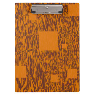 Brown orange alert float abstract squares mesh clipboard