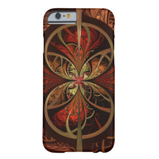 Brown & Orange Fractal Art Design, iPhone 6/6s Barely There iPhone 6 Case