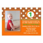 Brown Orange Pumpkin Birthday Invite