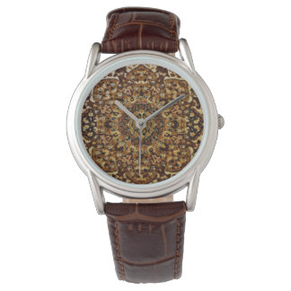 Brown Oriental Rug Wrist Watches