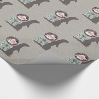 Brown Otter and Dream Catcher Native American Wrapping Paper